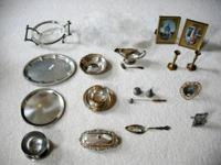 Sold separately- silver items are some sort of silver