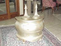 Silver & Gold all Wood Bombay Chest that is in great