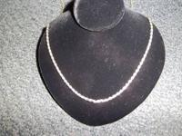 Nice sterling silver necklace for sale, pendant has the