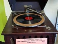 Early 1900 Silverstone crank type phonograph. All