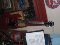 Red silvertone sg,in good condition new strings plays