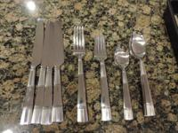 Flatware set just eliminated from plastic wrapping to