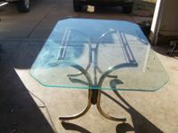 Glass Dining Table in Very Good Condition. Room around
