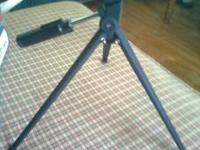 small tripod for cameras or scopes. fixed height.