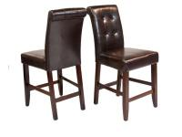 The Cosmopolitan Tufted 24 in. Bar/Counter Stool is a