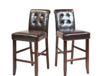 The Cosmopolitan Tufted 29 in. Bar/Counter Stool is a
