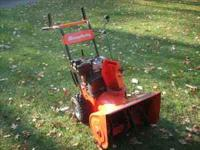 "5 hp. Simplicity 24"" snow blower- works and looks"