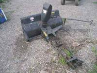 nice snowblower, bought complete