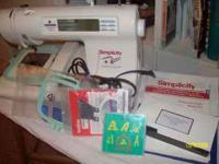 simplicity embroidery machine with built in designs,
