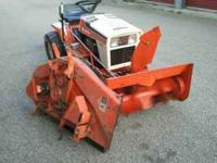 16 hp 44 inch mower deck with snowblower and chains run