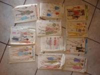 I have 9 packages of Sewing Patterns all in good usable
