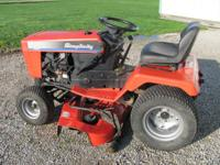 Simplicity Soverign tractor mower, 18 hp Kohler V-twin