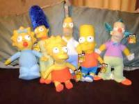 Simpson Plush Dolls Whole Family and Krusty the Clown