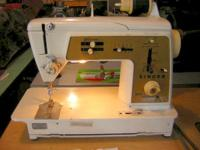 Singer model 640 zigzag sewing machine Gear driven,