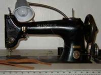 Sews light to medium leather.  Location: Nash, Okla