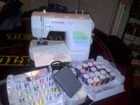 Never used sewing machine with intstrctions and sewing