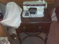 This Singer Sewing Machine is basically new, it has