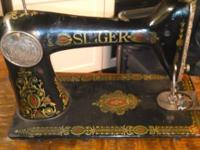 Singer-Sewing-Machine-Treadle-Type - 1920 model 66