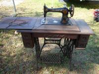 Vocalist Sewing Machine with Table Top Complete, Tiger