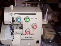 singer serger hardly used extras and manual call Glenn