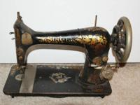 Vintage Singer sewing machine. It was made in 1901 and