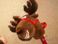 "Singing Reindeer with jingle bells Sings ""Jingle Bell"
