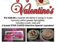 Singing Valentines personally delivered by a Sweet