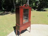 PRICE LOWERED!!  Nice clean mahogany single glass door