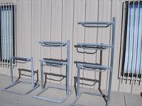 I have 4 of each saddle rack. They are made from 1 7/8""