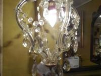 Single light Crystal Chandelier $300.  Single light
