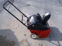 Selling this great little single stage Snow Blower. It
