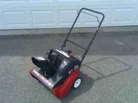 Yard Machines single stage snow blower. 2 cycle