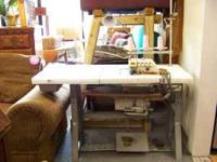 This serger sewing machine is an industrial 3 thread