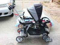 Great condition, double sit and stand stroller. Kids