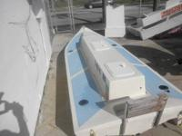 this is a lightweight fiberglass boat made with coremat