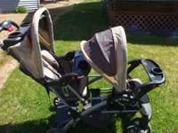 A great double stroller than can become a sit/stand