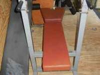Sit Up Bench: $50 Weight Bench w/weights & bars: $80