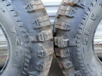 SIX SUPER SWAMPER THORNBIRD TIRES TWO 33X11.50 X15 WITH
