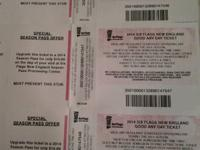I have 3 six flags tickets.  38 ea or all 3 for 100$