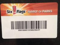 I have a Six flags season pass that I don't use , I got
