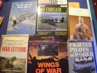 Six Non Fiction War Books, Hardcovers & Soft Covers.