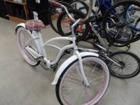 I have a nice pink and white ladies bicycle for sale.