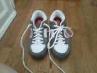 Grey white and red heelys size 10 great condition even