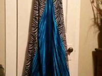 I have a beautiful size ten turquoise and zebra formal