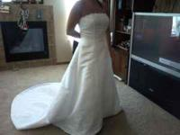 Never worn wedding dress (well, worn to try on at store