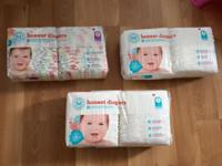 3 packs of size 2 Honest Co. diapers- $35 for all Boppy