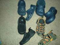 $15 for all or $5 each. The black pair are size 5 and