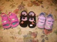 size 5 baby girl shoes and boots, $15 for all,