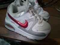 I have a pair of size 5 Nike Air Max pink and white.