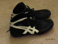 I am selling a pair of size 8 wrestling shoes my son no